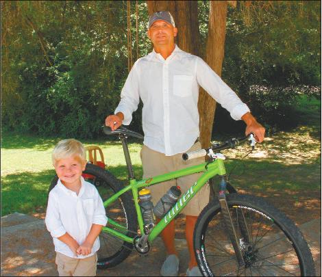 Brad Hood and son