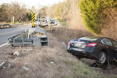1-car accident on Highway 34 on Friday sends car careening into