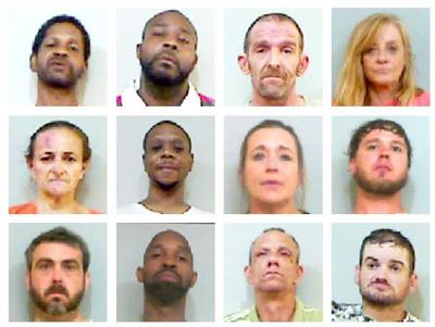 12 arrested on felony drug charges in Talladega County over