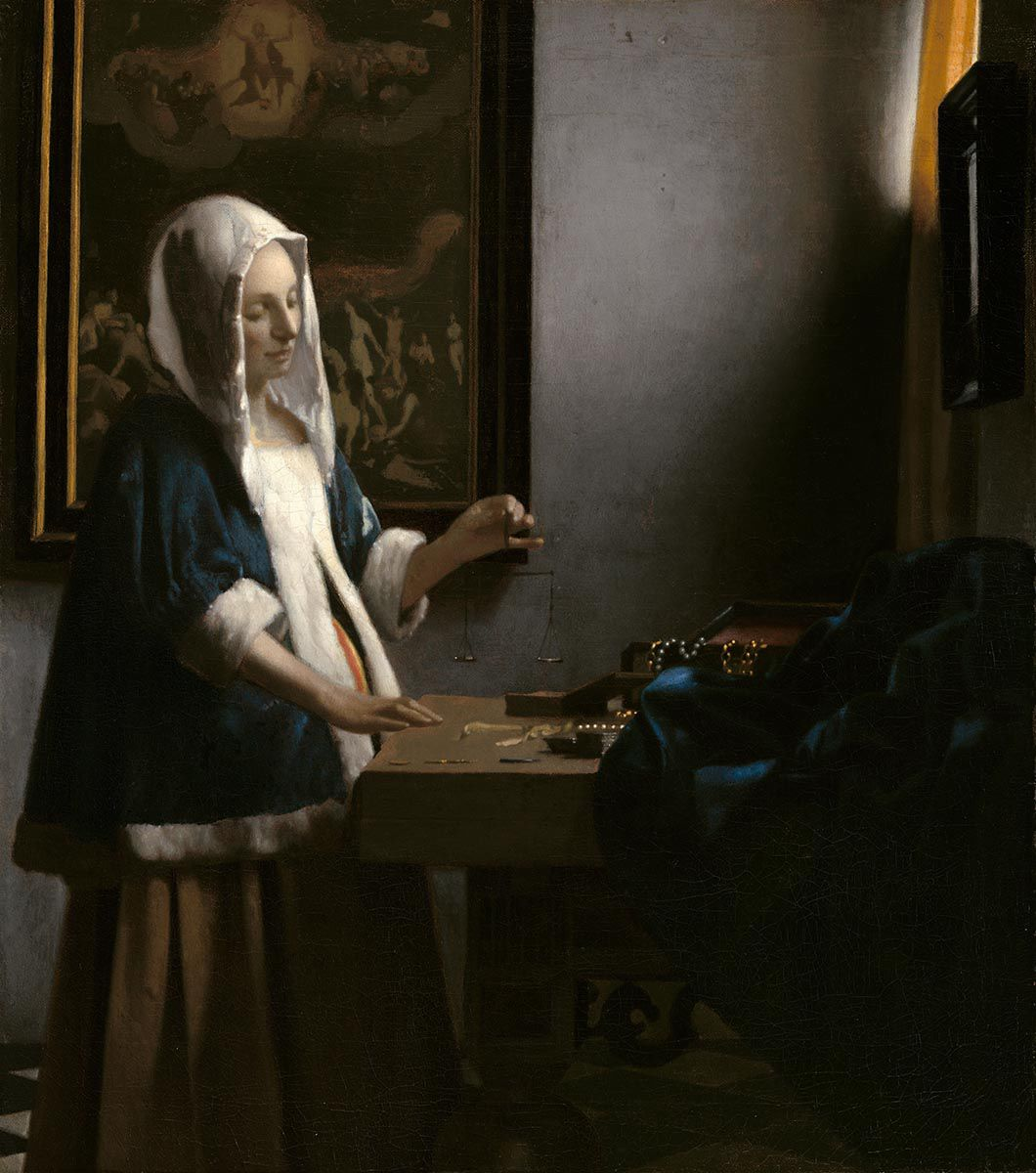 'Woman Holding a Balance' by Johannes Vermeer