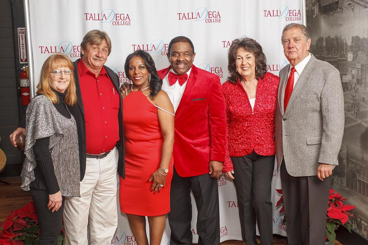 Dr  Billy C  Hawkins and wife with guests at Talladega College Christmas Party   .jpg