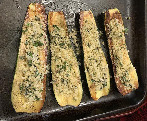 Parmesan Roasted Zucchini