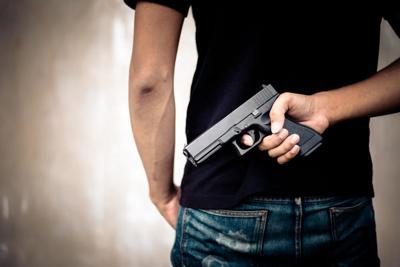 Hidden handgun