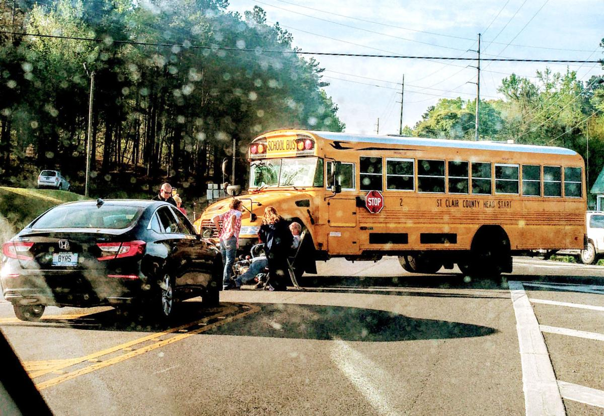 Bus, motorcycle involved in accident in St. Clair County