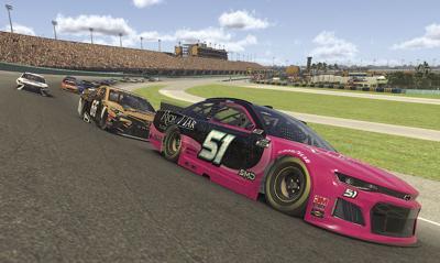 Garrett Smithley in virtual race