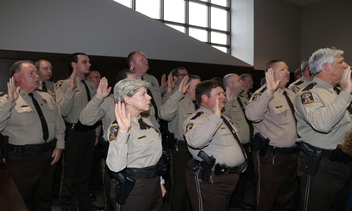 Law enforcement personnel sworn in
