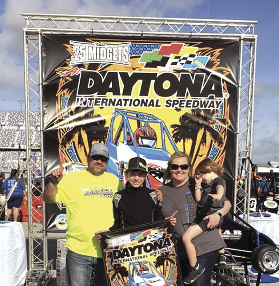 Ryan Wilson in Victory Lane at Daytona International Speedway