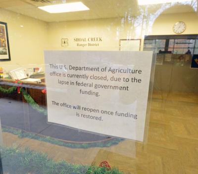 Shutdown at Talladega National Forest