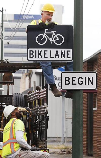 The Way I See It ... Bike Lane signs are being installed