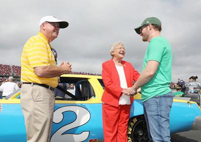 Grant Lynch with Gov. Ivey and Dale Earnhardt Jr.