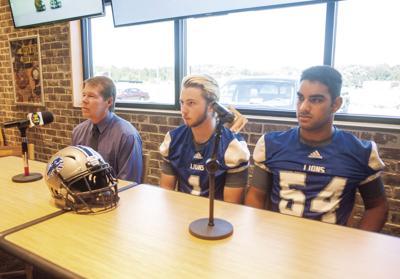 Breland, seniors speak to media