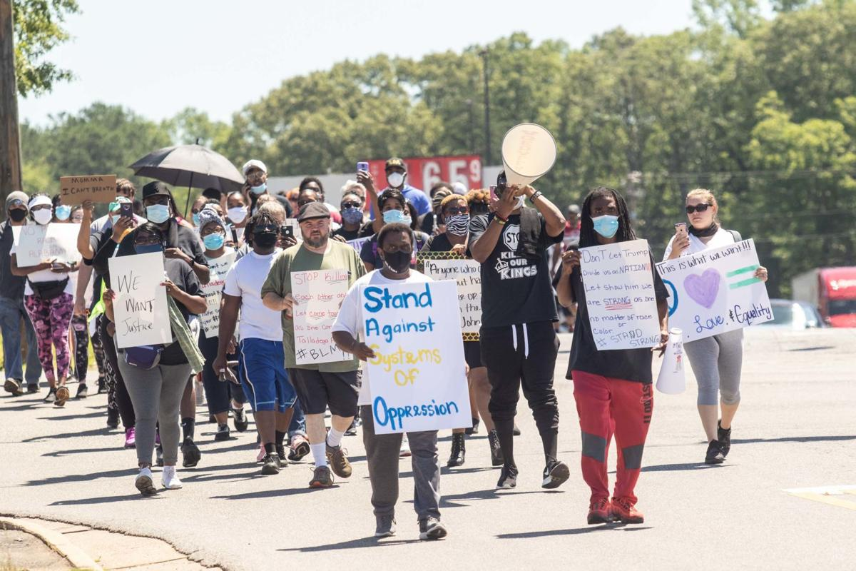 More than 50 march in Talladega to peacefully protest death of George Floyd (with photo gallery)