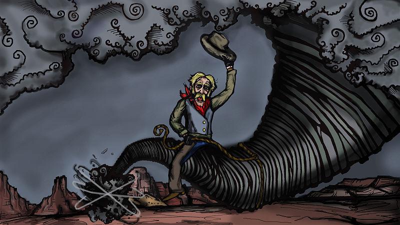 'Pecos Bill Lassos a Tornado'