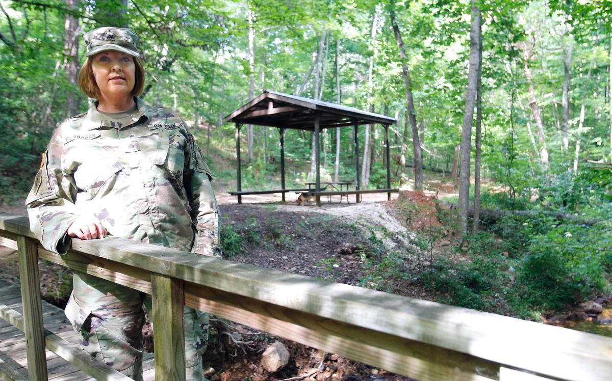 Secret garden: Guardsmen adopt, clean waterfall park