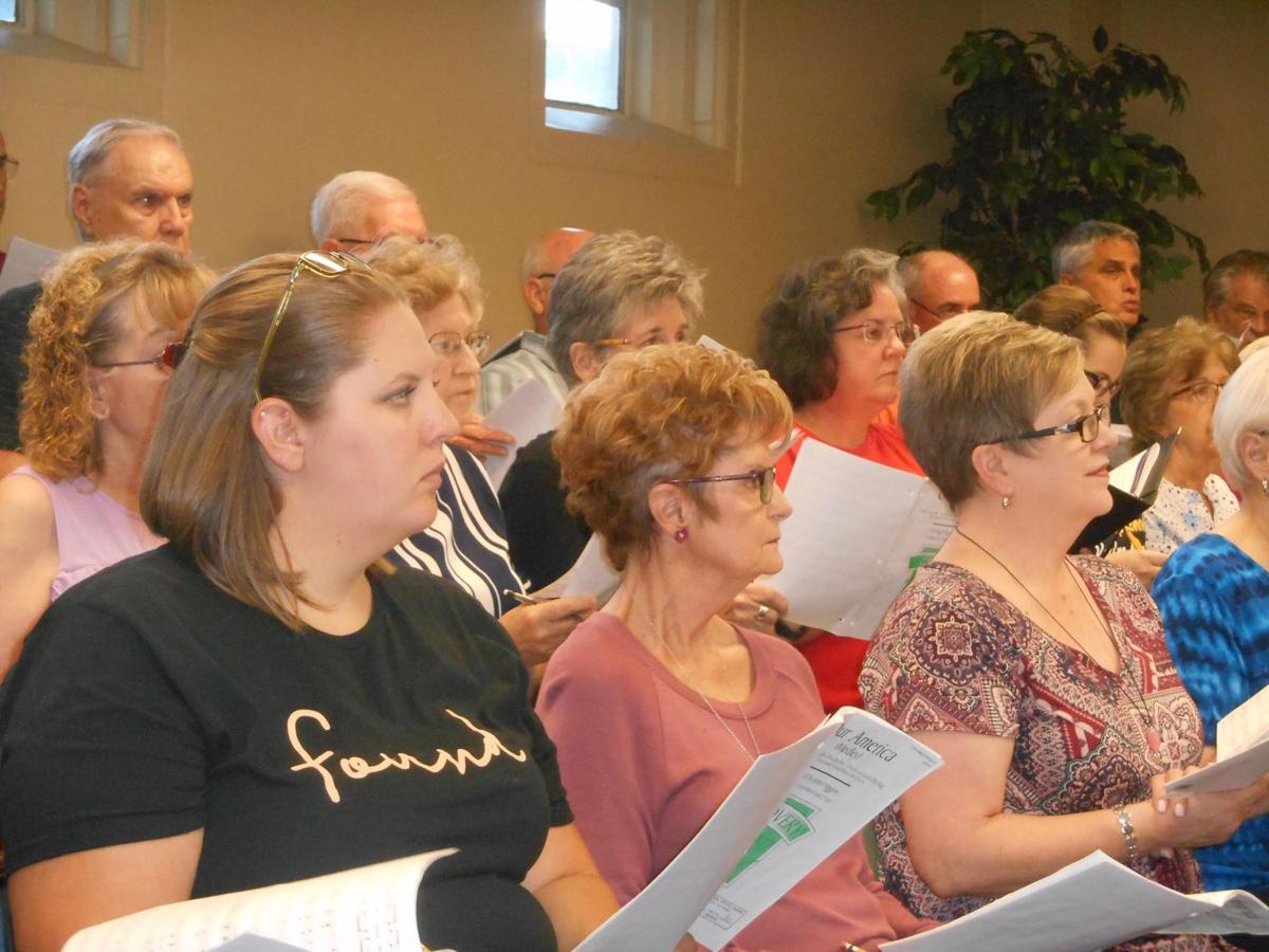 The Parker Memorial Baptist Church choir and orchestra