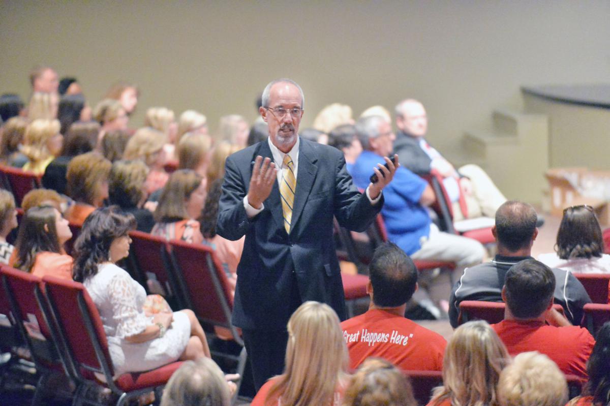 State superintendent speaks at teachers' meeting