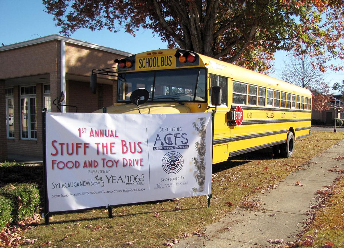 Stuff the Bus Food and Toy Drive underway in Sylacauga
