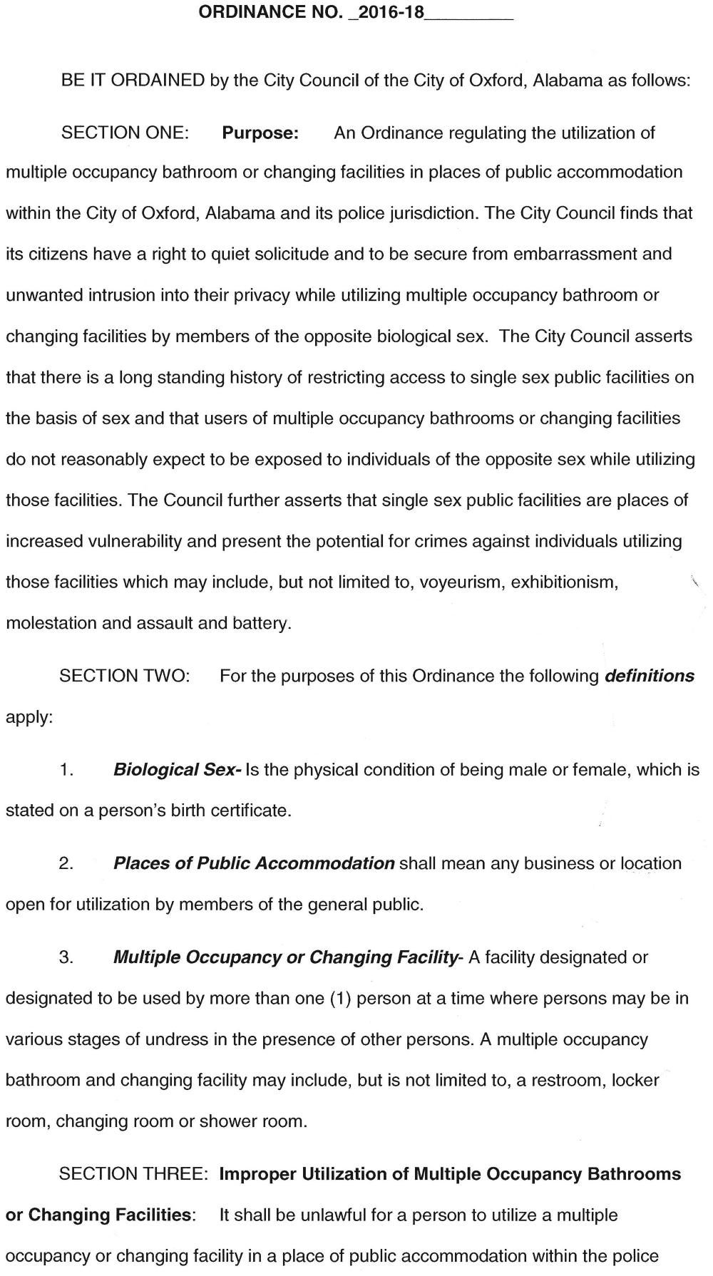 Oxford's new bathroom/changing facility ordinance