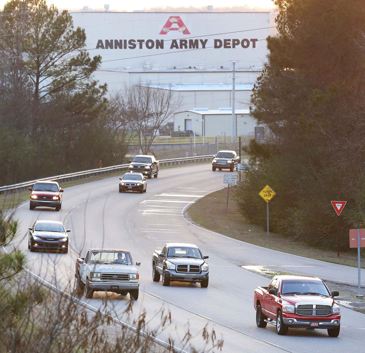 Anniston Army Depot traffic
