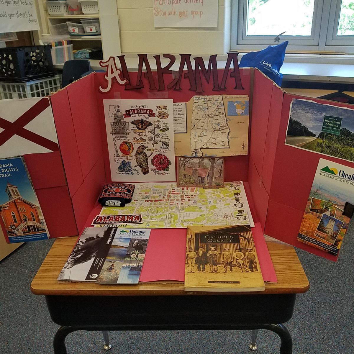 In Your Community ... Virginia school students create display of Alabama