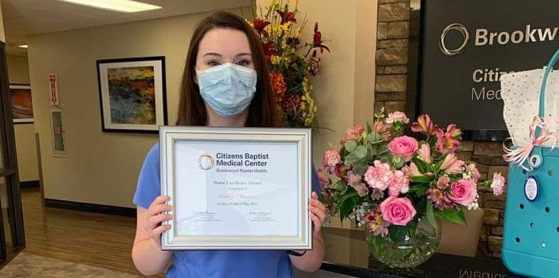 Citizens Baptists honors Shaddix during National Nurses Week