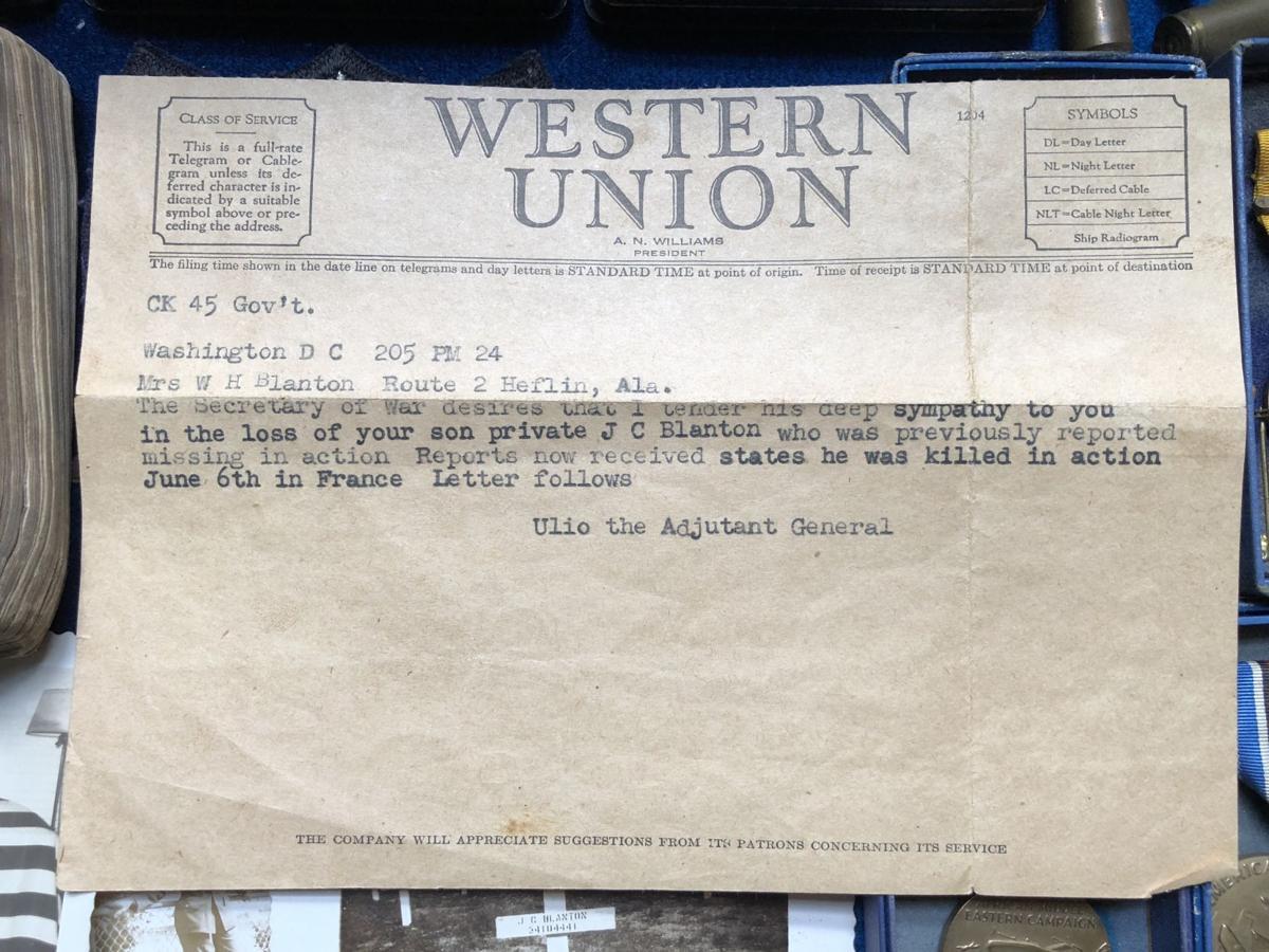 J.C. Blanton telegram