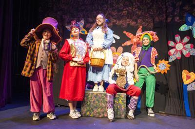 Dress rehearsal for 'Alice In Wonderland'