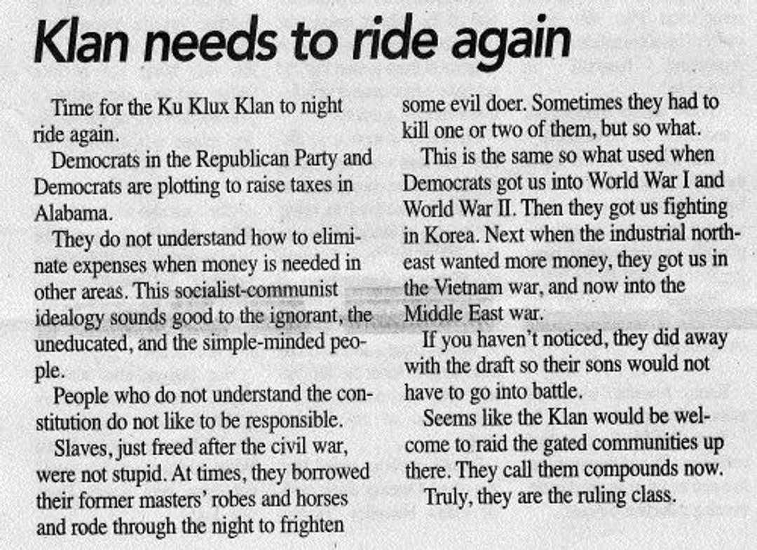 Klan editorial