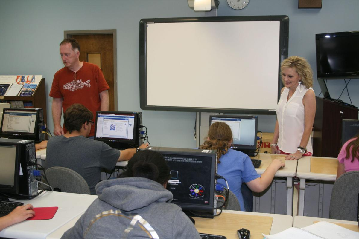 Students at work during summer school