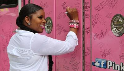 Signing the truck