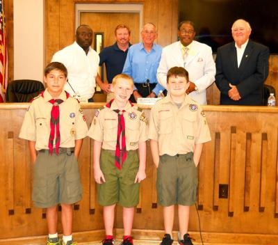 Boy Scout Troop 120 visits Talladega City Council meeting