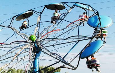 County fair carnival ride