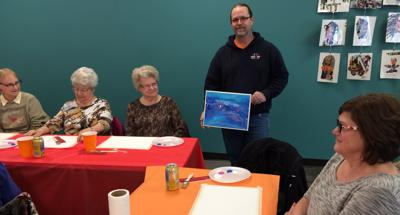 Abstract artist featured at library luncheon