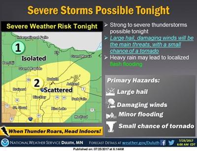 Severe weather possible on July 25-26
