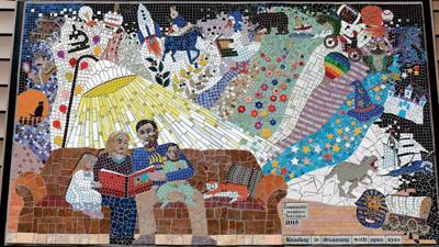 Shell Lake Public Library mosaic