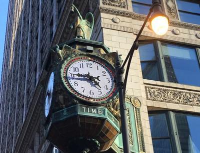 Clock in Chicago