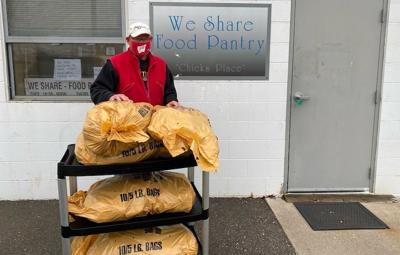 Barron Electric donates potatoes to pantries