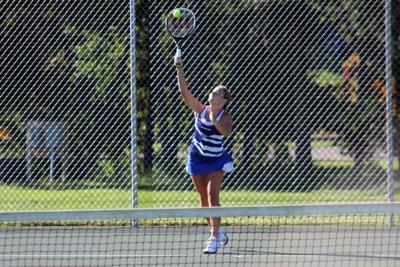 Rice Lake girls tennis at Barron 8-29-20