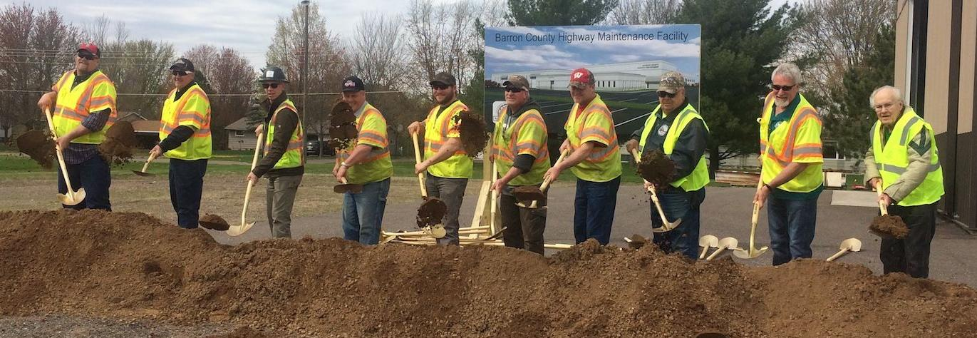Barron County turns dirt as $25 million highway shop project begins