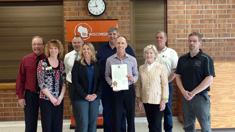 Phillips School District was awarded a $25,000 Fab Lab Grant on Tuesday,  April 25, one of only 21 Wisconsin school districts to receive the grant.