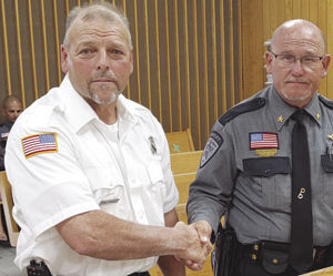 Community Service Medal to Firefighter Chris Headley