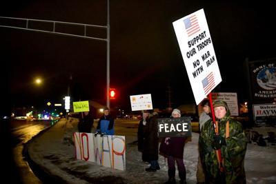 Anti-war demonstrators in Hayward