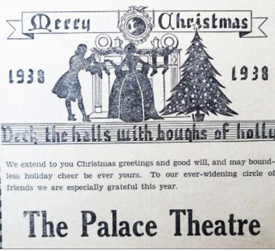 Palace Theatre Christmas ad