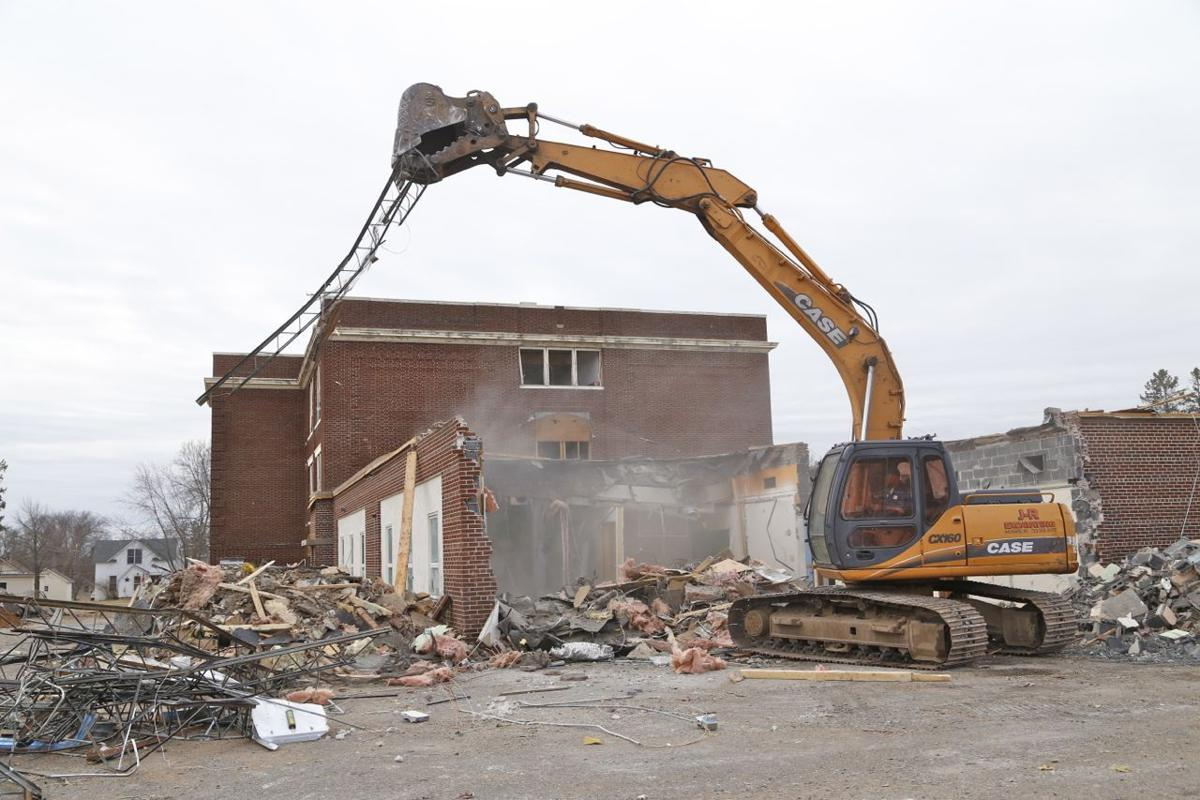 Old Hayward High School demolished