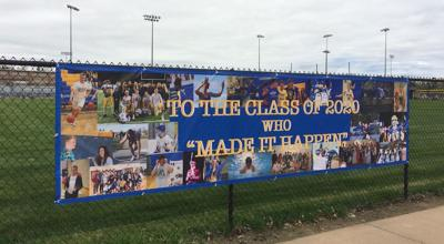 Banners recognize the Class of 2020