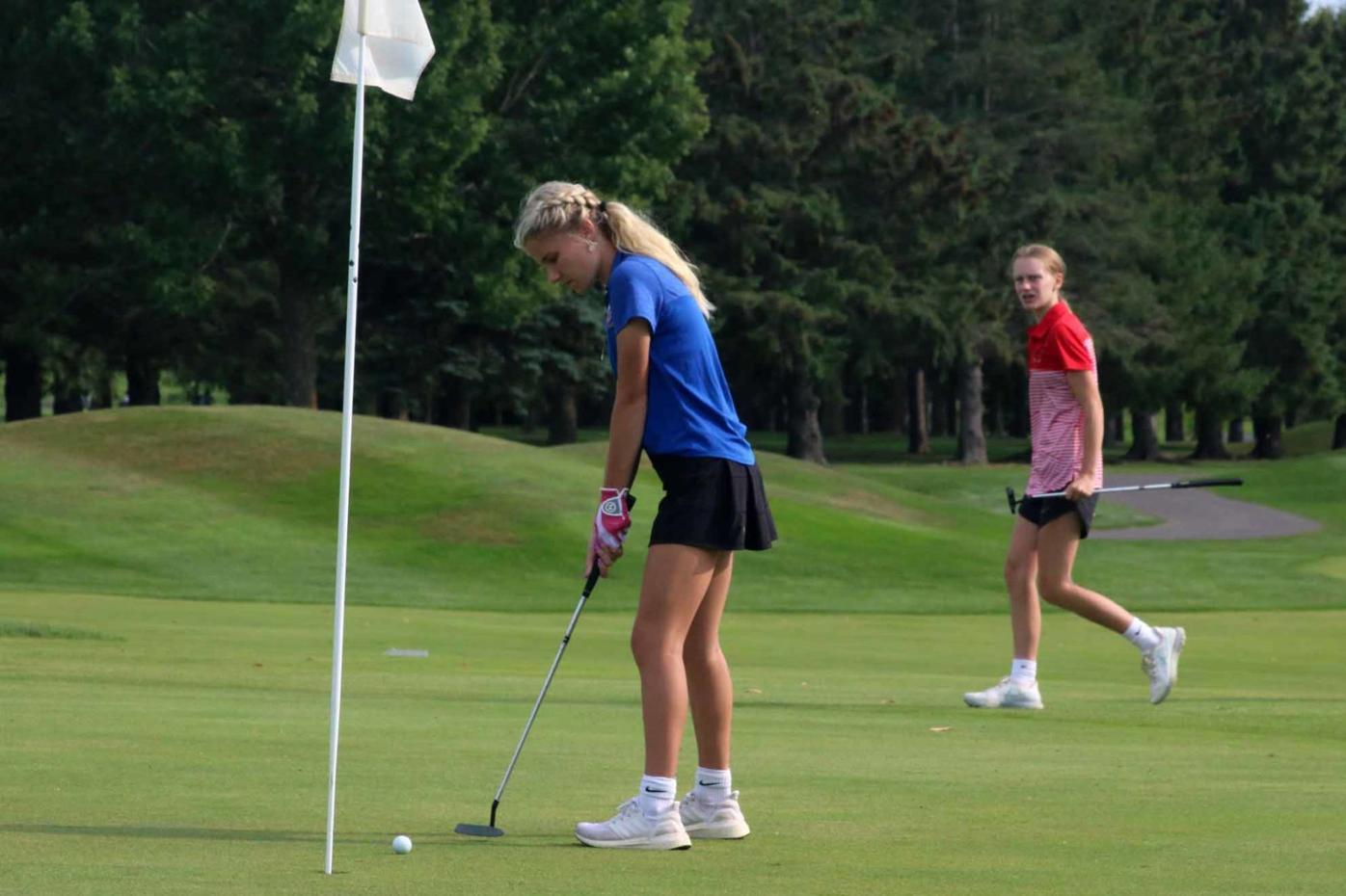 Rice Lake girls golf Big Rivers Conference meet at Turtleback 9-9-21