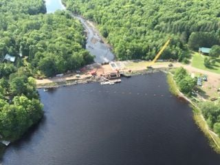 Moose Lake Dam repairs show progress | Local | apg-wi com