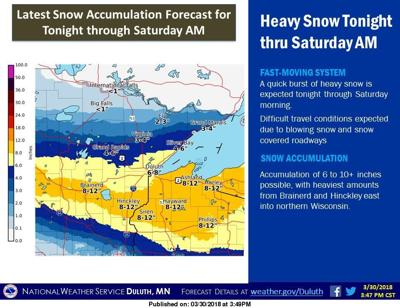 Potential snow amount rises to a foot Free