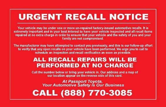 """Fake """"urgent recall"""" notices"""