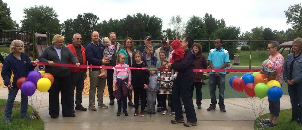 Ribbon-cutting officially opens new playground